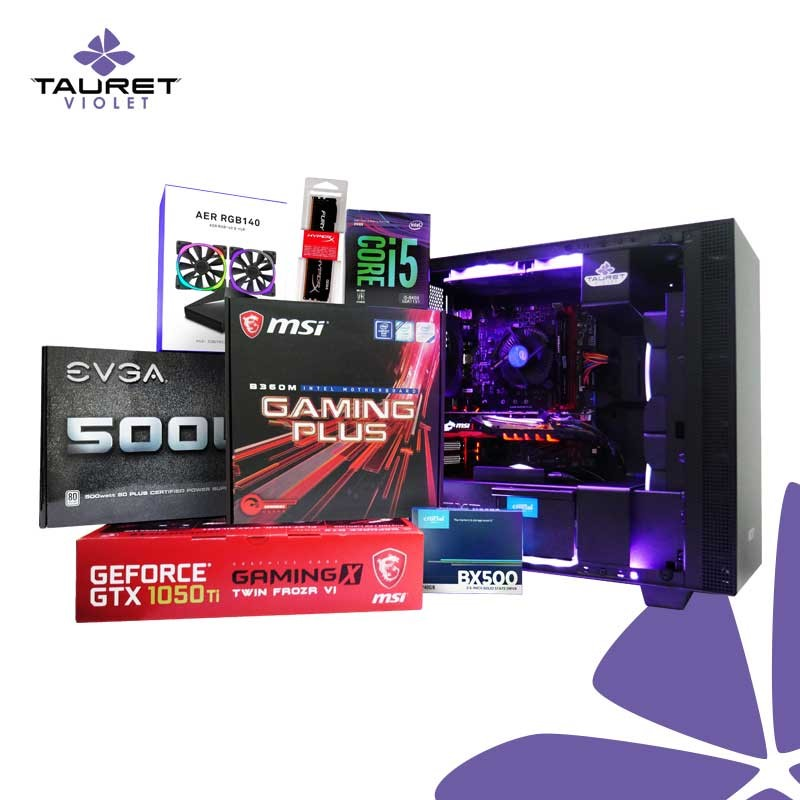 bb98833be2b Pc Gamer Violet Tv11 Core I5 8400 Gtx 1050 Ram 8Gb